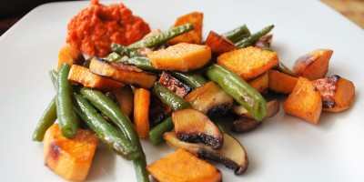 Mojo Rojo mit Gemüse