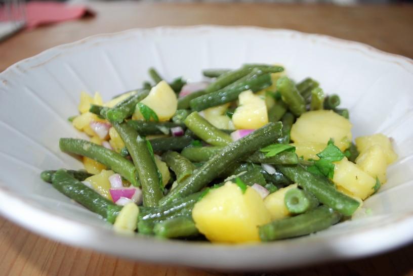 kartoffel bohnen salat die gr ne seele der foodblog. Black Bedroom Furniture Sets. Home Design Ideas