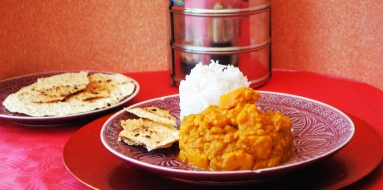 Curry mit Kürbis und Linsen