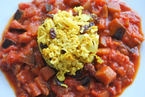 Indischer Curry-Reis