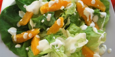 Salat mit Orangenfilets