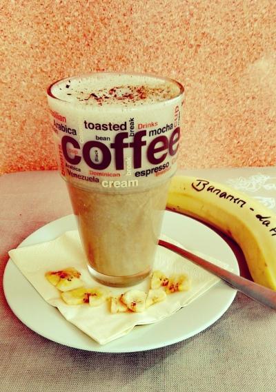 Soja-Latte mit Banane