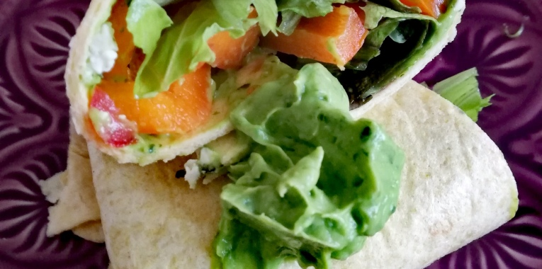 Maisfladen mit Avocado und Bärlauch